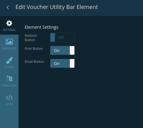 Edit Voucher Utility Bar element
