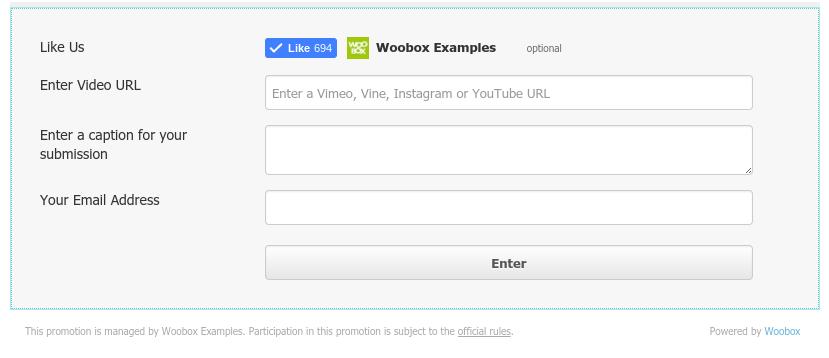 Video Contest Form Element