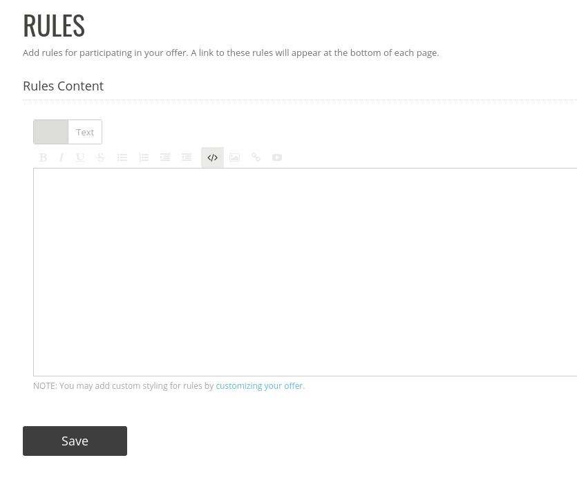 Rules editor