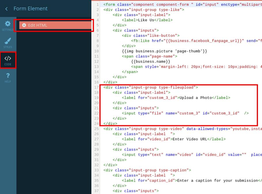 Copy form HTML