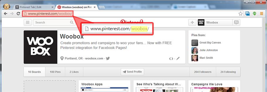 Pinterest username