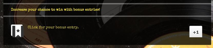 Custom bonus entry element