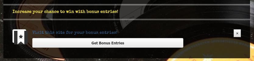 Get bonus entries button