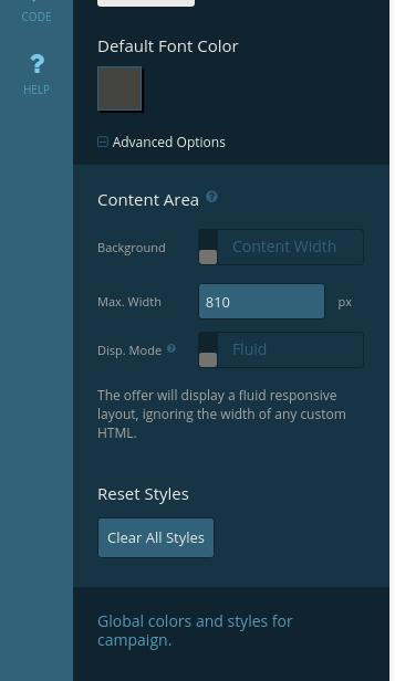 Styles tab - reset styles