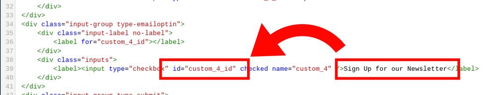 Field ID in HTML