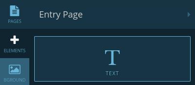 Text element button