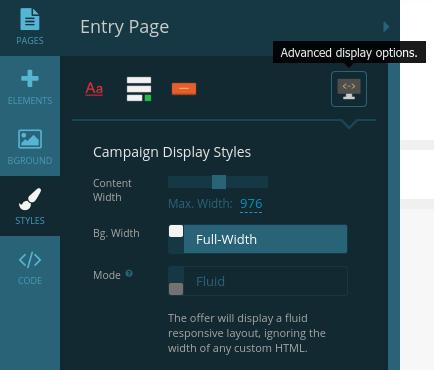 Styles - advanced display options