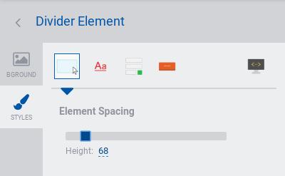 Divider - styles tab