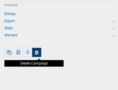 Delete campaign button