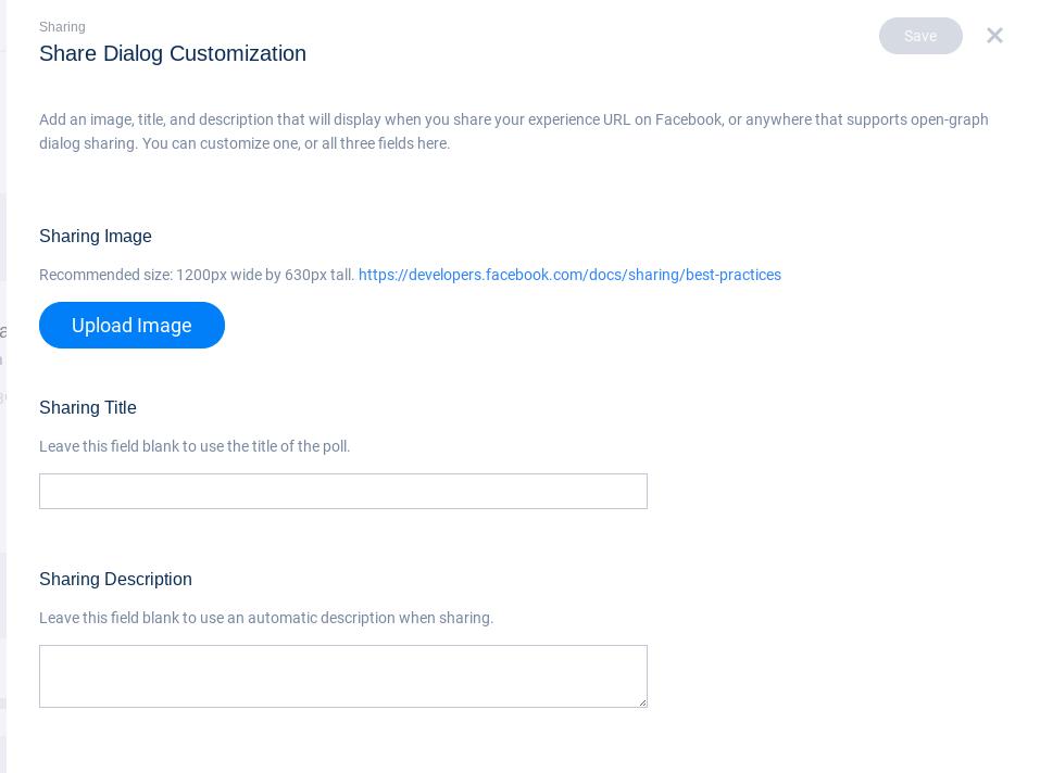 Share customization page - Poll