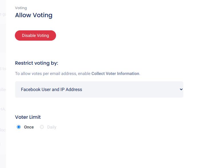 Vote restriction options
