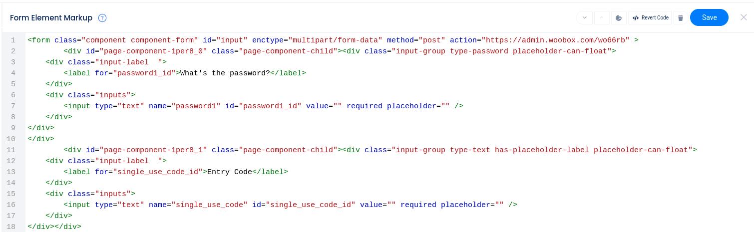 Form HTML markup editor
