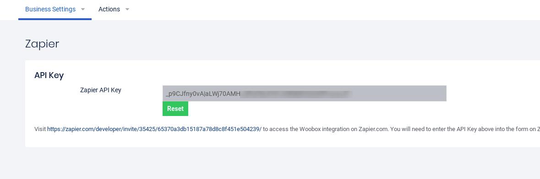 Zapier API key