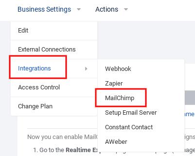 Integrations - MailChimp