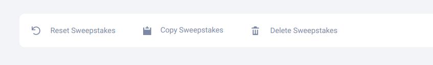 Copy, reset, delete sweepstakes