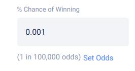 Set percent odds of winning