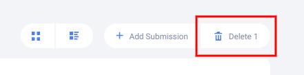 Delete submissions button