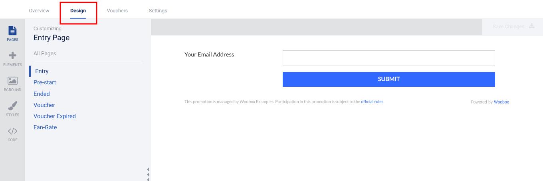 Coupon design tab