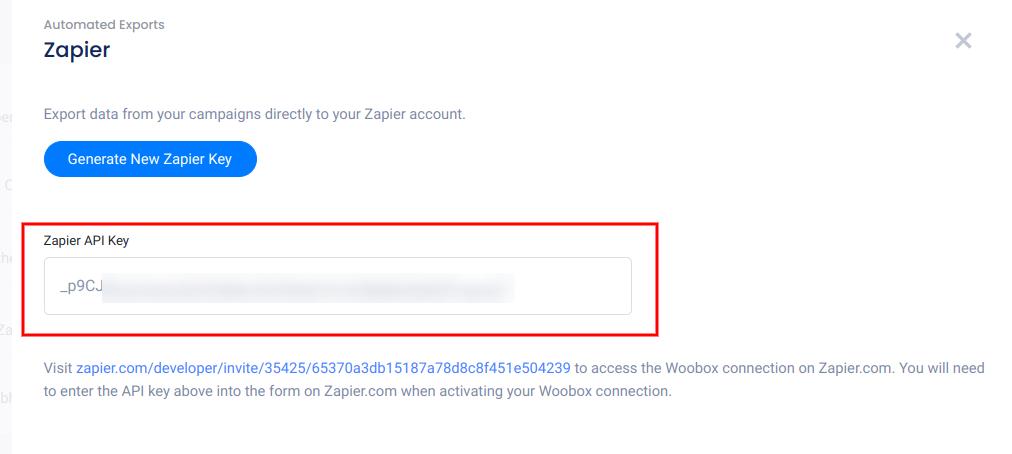 Zapier API key - 2020