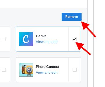 Remove FB app