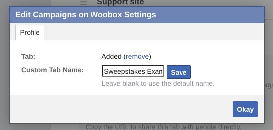 Rename Facebook tab modal