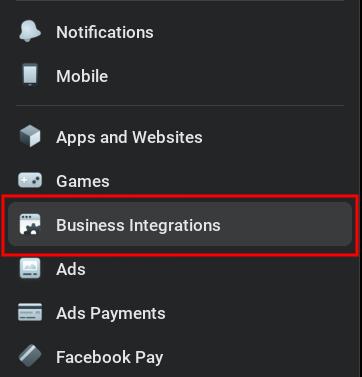 Facebook business integrations 2021