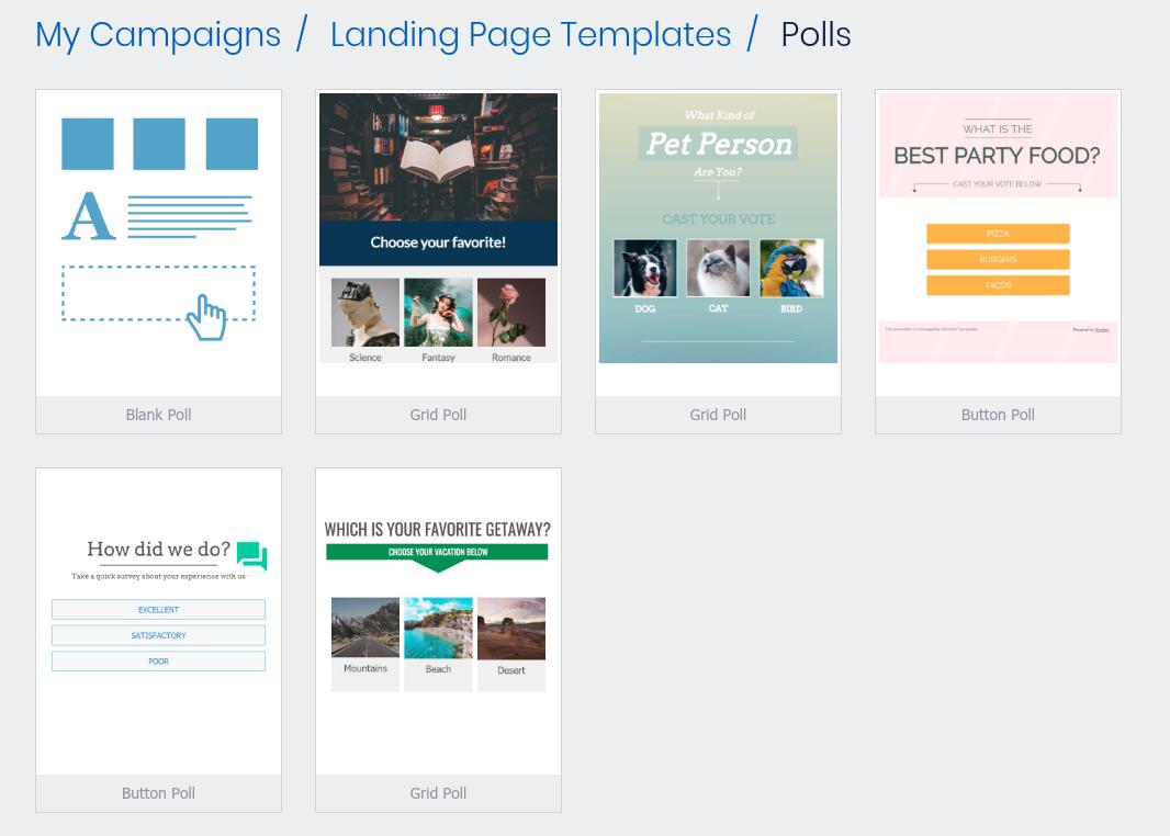 Poll templates