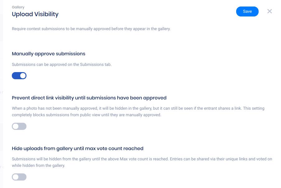 Upload visibility