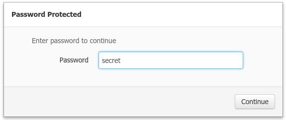 Password popup