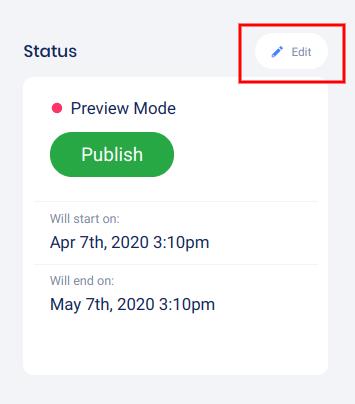 Status -edit dates