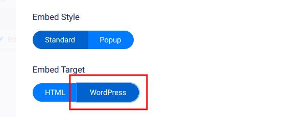 Embed target - WordPress