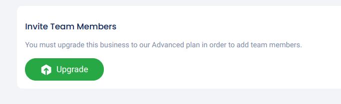 Upgrade for team access button