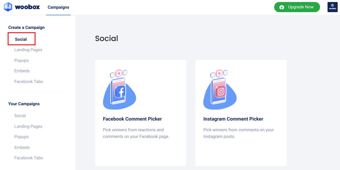 Create a campaign - social