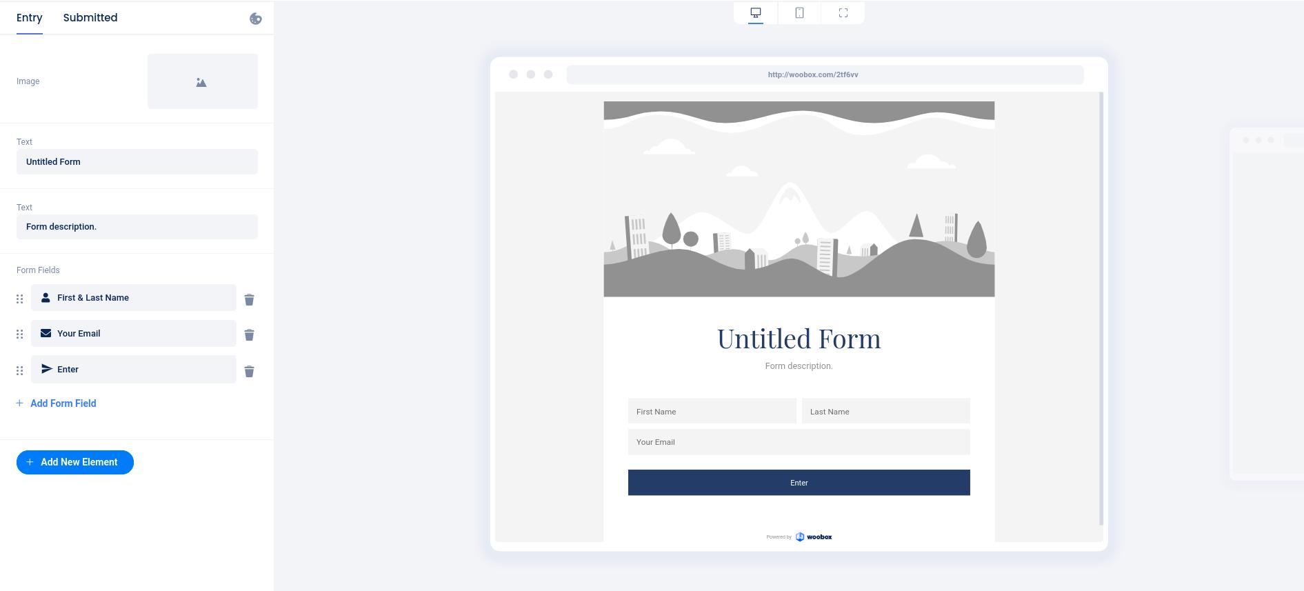 Form Design tab