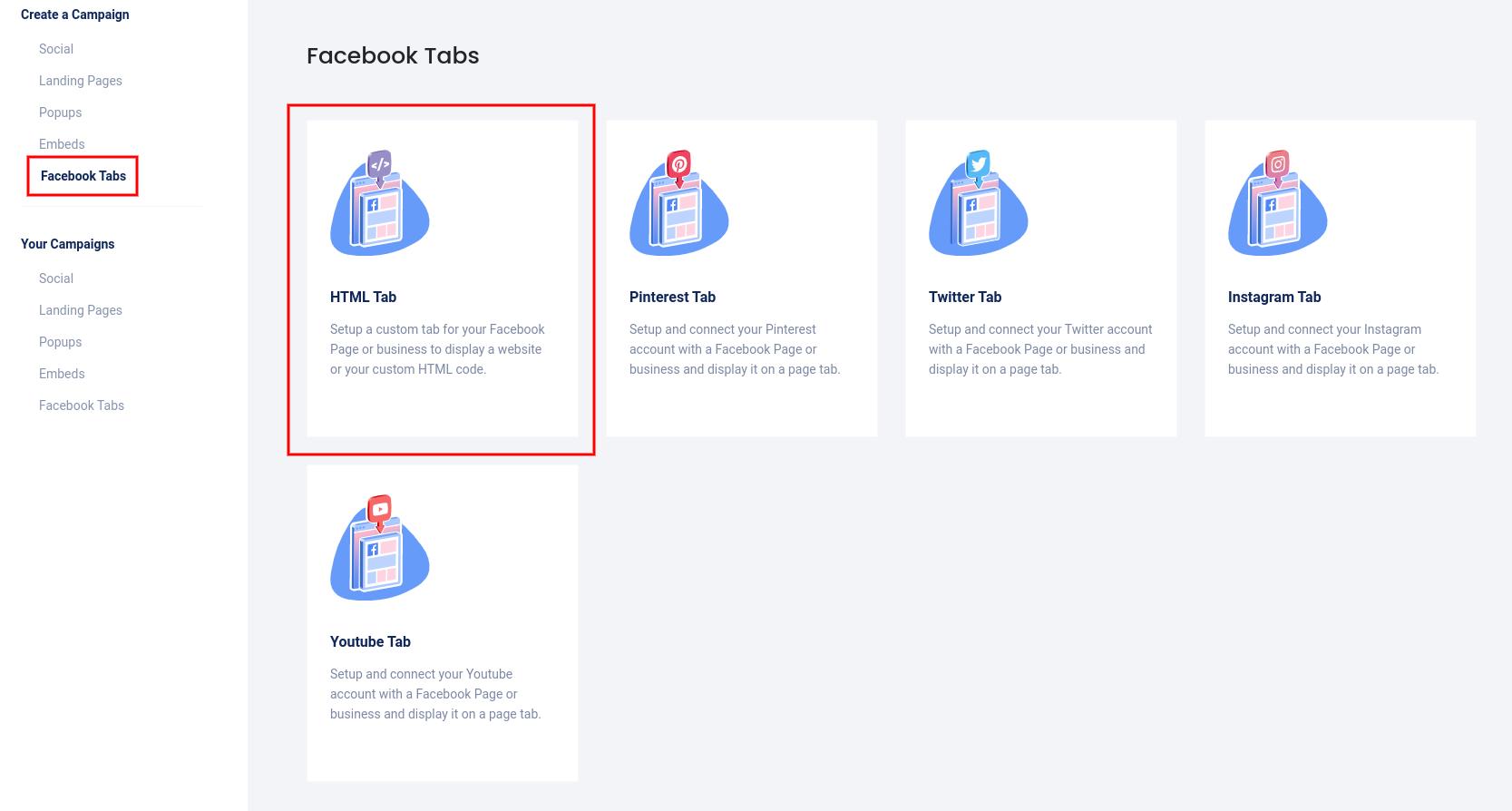 Facebook tabs - HTML tab