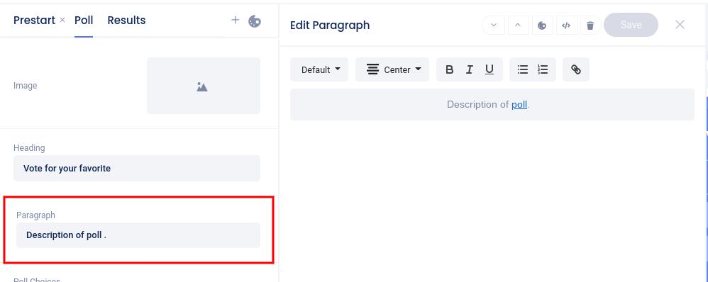 Select default paragraph element