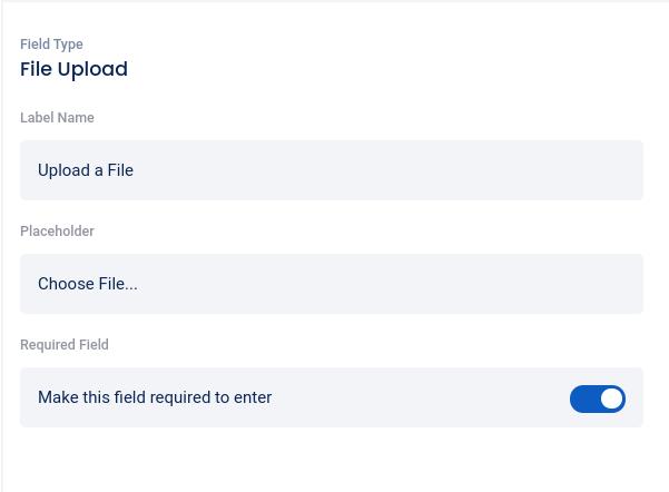 Edit file upload field