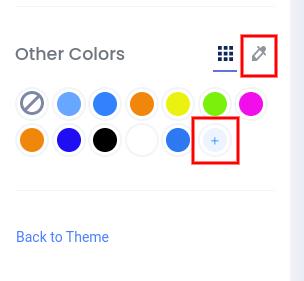 Custom colors dropper icon