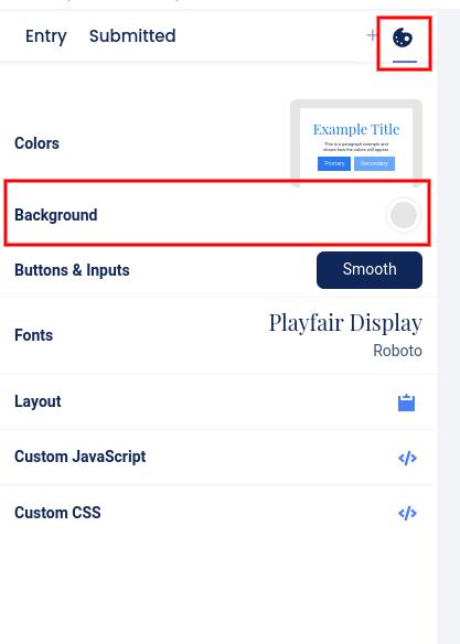 Design section - edit background