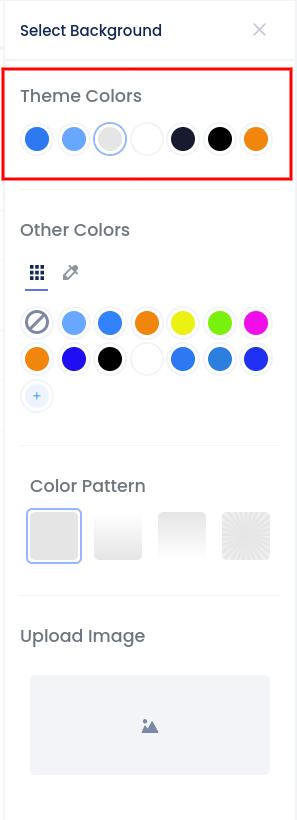 Background customization slider