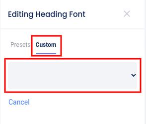 Fonts - custom fonts