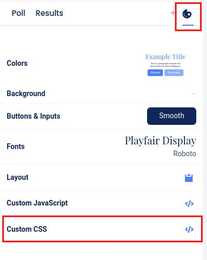 Design - Custom CSS