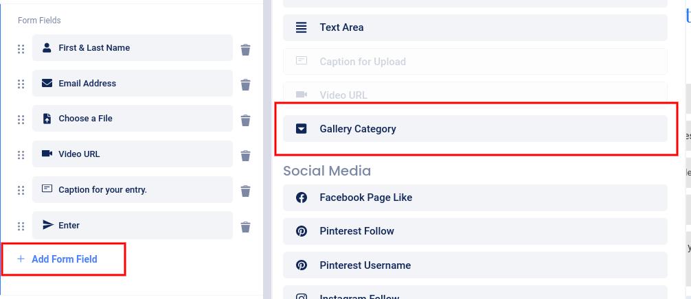 Add Gallery category field